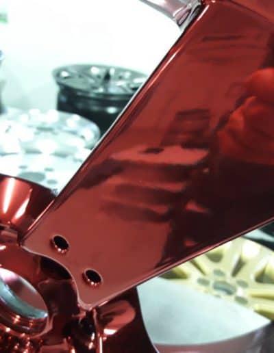 """powiększenie mazda czerwony red chrom 18"""" 5x114,3"""