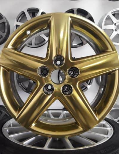 """audi 17"""" 5x112 pvd chrom złoto gold chrome"""