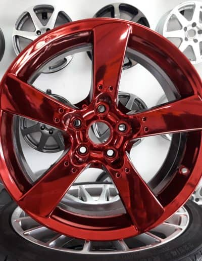 MAZDA 5x114,3 red czerwony chrom PVD